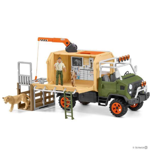 Image of   Stor lastbil til dyreredning - Schleich Wild Life 42475