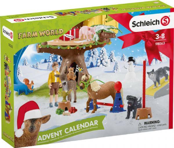 Schleich Julekalender Bondegård 2020 - Schleich Farm World 98063