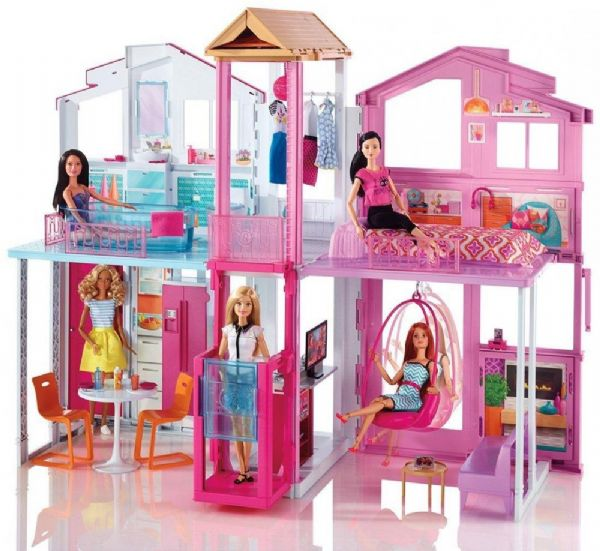 Image of   Barbie Malibu Townhouse - Barbie Dukkehus DLY32