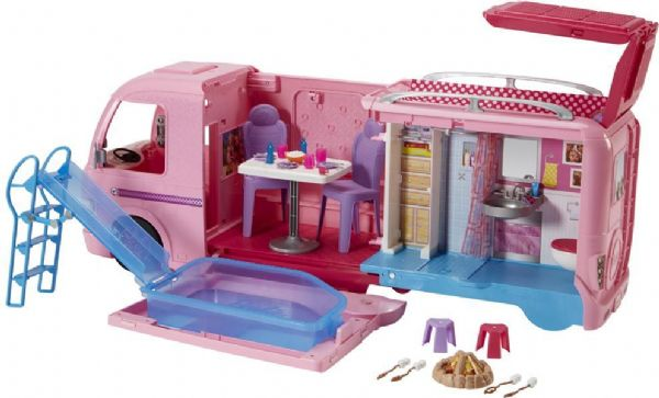Image of Barbie Dream Autocamper - Barbie campingvogn bil FBR34