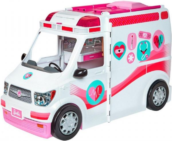 Image of Barbie 2 i 1 Ambulance klinik - Barbie Care Clinic bil FRM19