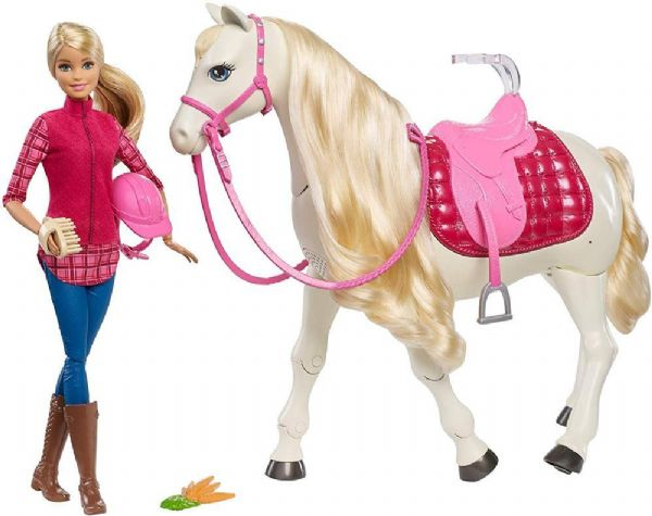 Image of Mattel Barbie Drømmehesten FRV36 - Barbie Dreamhorse dukker FRV36 (29-0FRV36)