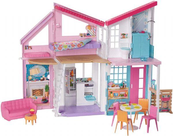Image of   Barbie Malibu Hus - Barbie Dukkehus FXG57