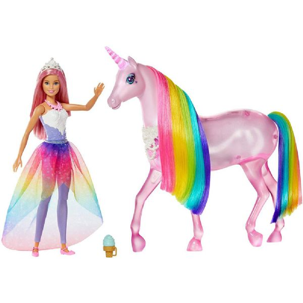 Image of Barbie og magisk enhjørning - Barbie Dreamtopia hest FXT26