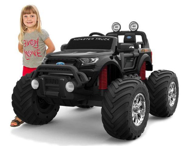 Image of   Ford Ranger Monster Truck 4X12V motor - Elbil til børn 001135