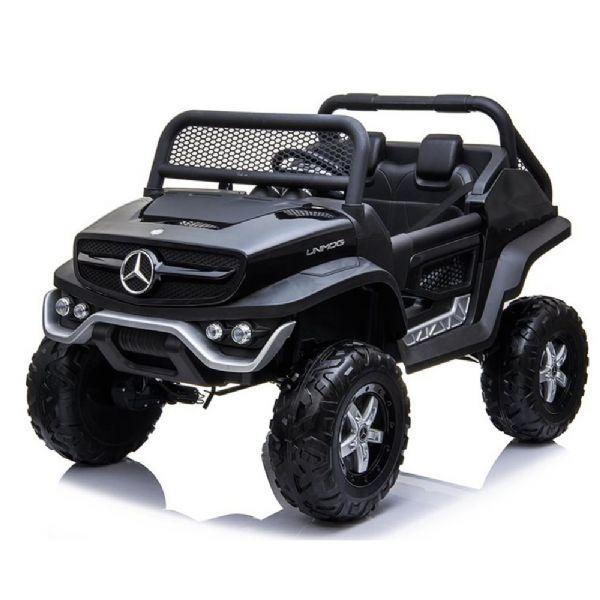 Image of   Mercedes Unimog 12V sort, 2 pers - El bil til børn 001432