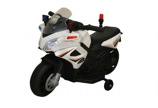 Image of   Azeno 6V Politi Motorcykel - Elbil til børn 001449