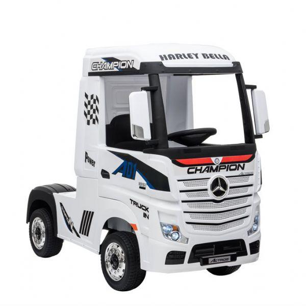 Image of Mercedes Actros 12V Lastbil hvid - El bil til børn 001814 (291-001814)