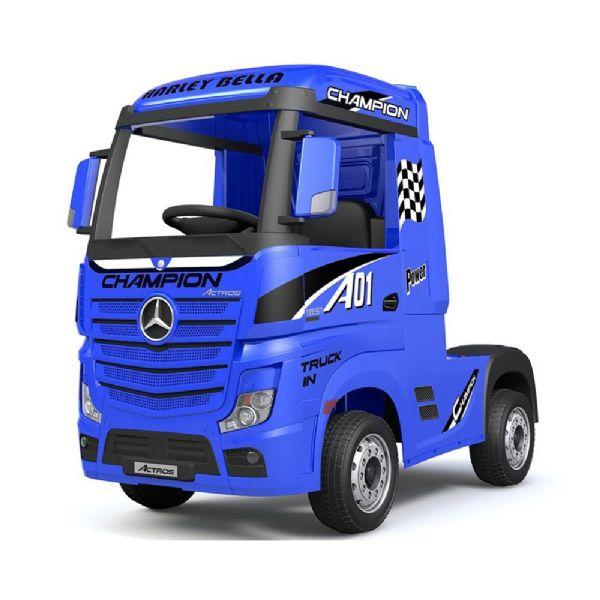 Image of Mercedes Actros 12V Lastbil blå - El bil til børn 001821 (291-001821)