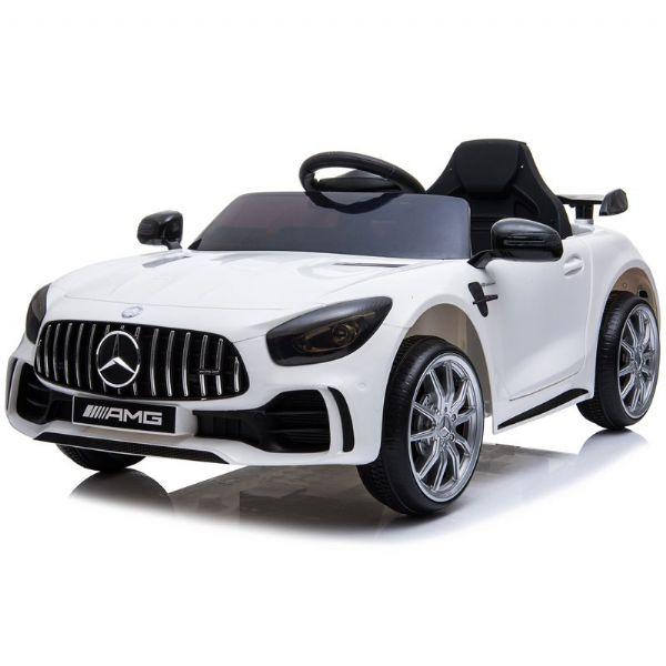 Image of Mercedes GTR AMG 12V hvid - El bil til børn 001845 (291-001845)