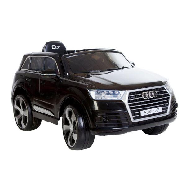 Image of   Audi Q7 Sort, 12V, rigtige gummihjul - Elbiler til børn 110738
