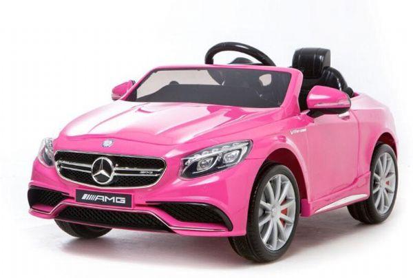 Image of   Mercedes S63 Pink 12V - Elbil til børn 326313