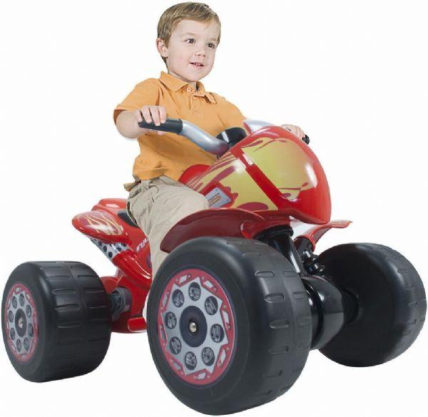 Image of   Flames Quad elmotorcykel 6V - Injusa El motorcykel til børn 728