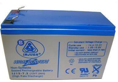 Image of   Genopladeligt batteri 12v 7,2 AH - reservedel til Elbiler Injusa 991