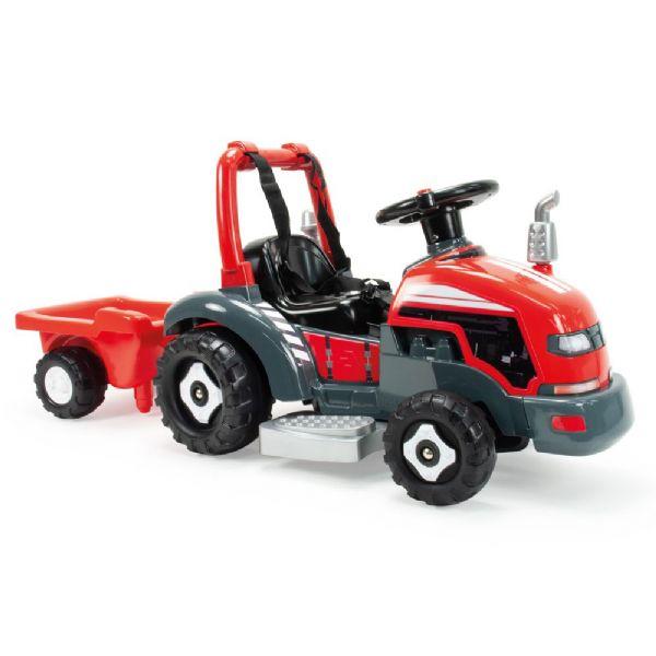 Image of   Traktor med vogn Elbil 6v - Injusa Eltraktor til børn 1505