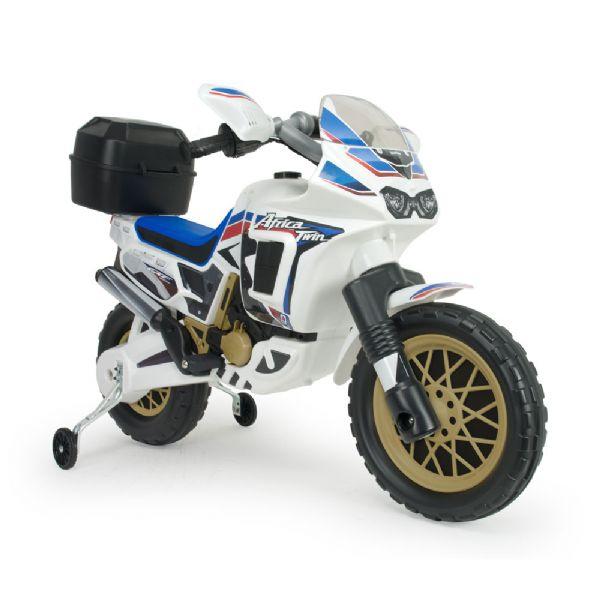 Image of   Honda Hvid El Motorcykel Africa Twin 6V - Injusa El motorcykel til børn 6820