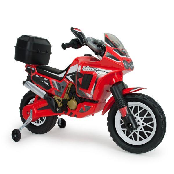 Image of   Honda Rød El Motorcykel Africa Twin 6V - Injusa El motorcykel til børn 6827