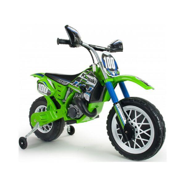 Image of   Kawasaki Motorcykel 12v - Elbil til børn 12 volt 6835