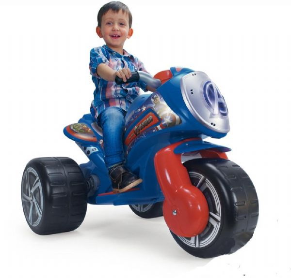 Image of   Avengers elmotorcykel 6v - Injusa El Biler Tribike 72977