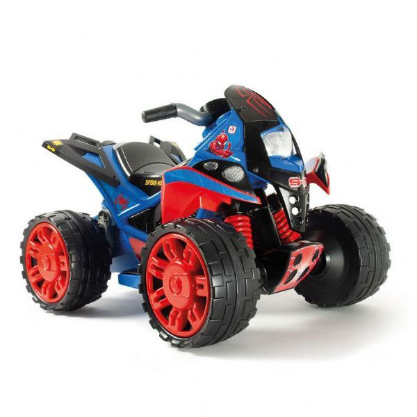 Image of   Spiderman ATV Quad 12v - Elbil til børn spiderman 12 volt 76160