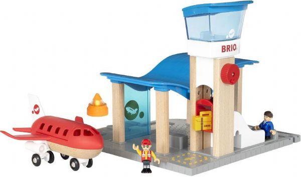 Lufthavn med kontroltårn - Brio Flystation 33883 - Trælegetøj - Brio