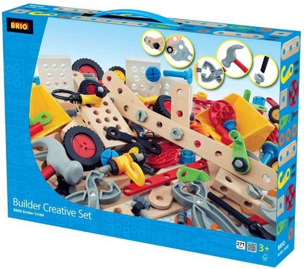 Builder Creative Sæt 271 dele - Brio Trælegetøj 34589 - Byggeklodser - Brio