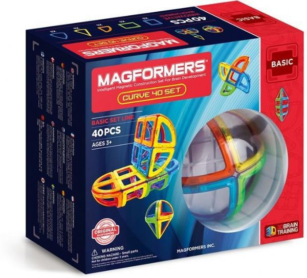 magformers Magformers curve 40 set - magformers byggeklodser 3045 på eurotoys