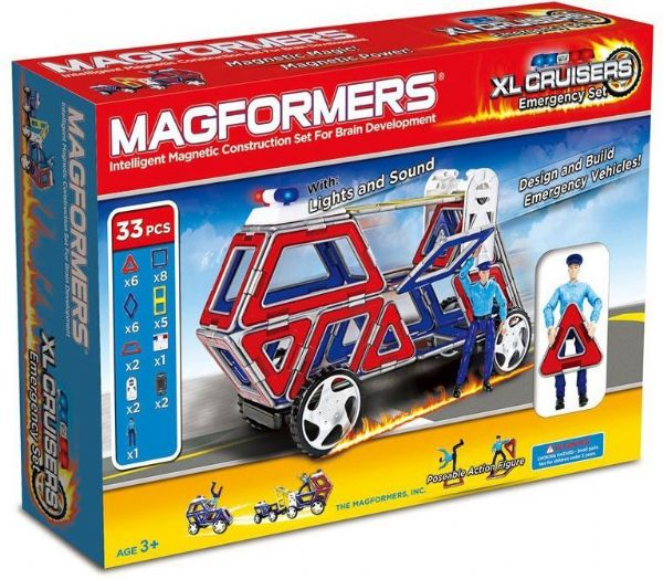Image of Magformers XL Cruisers Emergency Set - Magformers byggeklodser 361030 (331-361030)