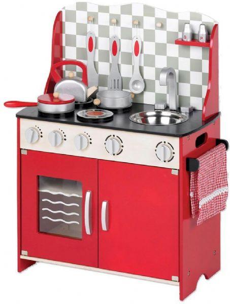 Image of   Legekøkken rødt - Tidlo lege køkken T0148