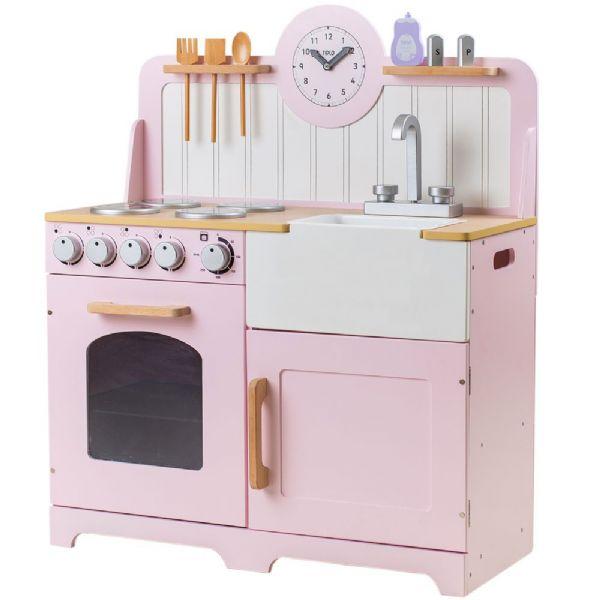 Image of   Landligt legekøkken lyserød - Køkkener T0229