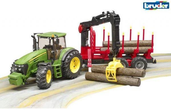 Image of John Deere 7930 Traktor med trailer - Bruder køretøj 3054 (343-003054)