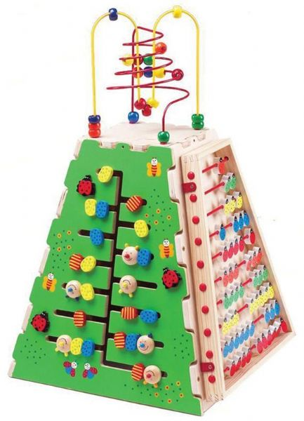 Image of Kæmpe aktivitetspyramide - Bigjigs Træ Legetøj 090007 (380-090007)
