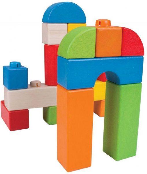 Image of Klik blokke - farve 100stk - Bigjigs Konstruktion 534038 (380-534038)