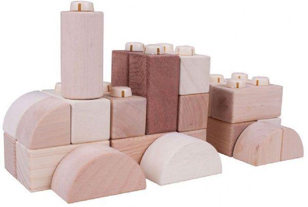 Klik blokke - naturlig 100stk - bigjigs konstruktion 534045 fra bigjigs på eurotoys