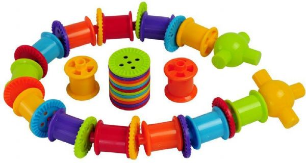 bigjigs Samlesæt med knapper og cylindre 420 del - bigjigs spil diverse 670149 fra eurotoys
