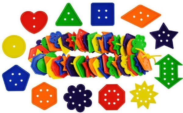 Image of Geometri og tal sæt 444 dele - Bigjigs Spil diverse 670194 (380-670194)
