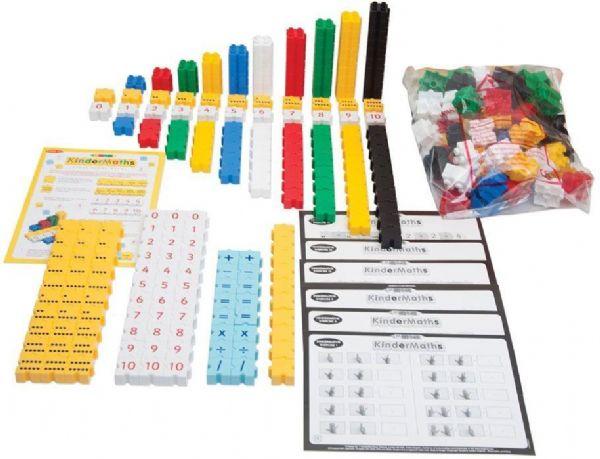Image of Børne matematiksæt 350 dele - Bigjigs tal spil 670309 (380-670309)