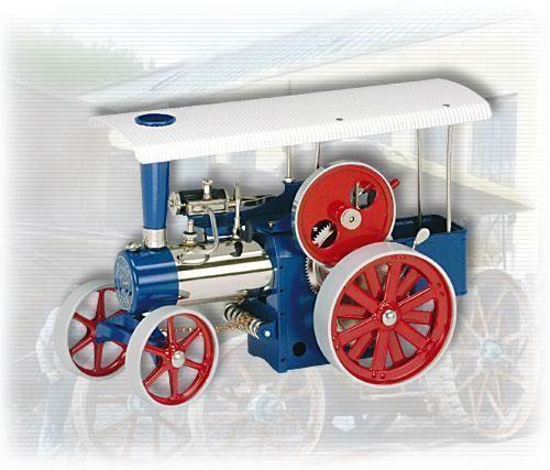 Image of Damptromle blå - Wilesco dampmaskiner D405 (40-00d405)