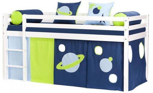 Halvhøj seng 90x200 cm - Hoppekids Space Seng 101216 - Børneseng - Hoppekids