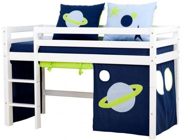 Halvhøj seng 70x160 cm - Hoppekids Space Seng 101234 - Børneseng - Hoppekids
