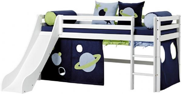 Halvhøj seng 90x200 cm - Hoppekids Space Seng 101235 - Børneseng - Hoppekids