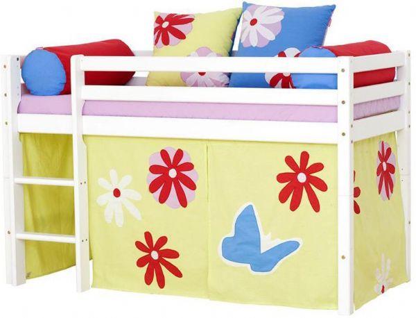 Halvhøj seng 70x160 cm - Hoppekids Butterfly Seng 102125 - Børneseng - Hoppekids