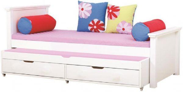 Image of   Deluxe seng m/udtræksseng 90x200 cm - Hoppekids Butterfly Seng 102127