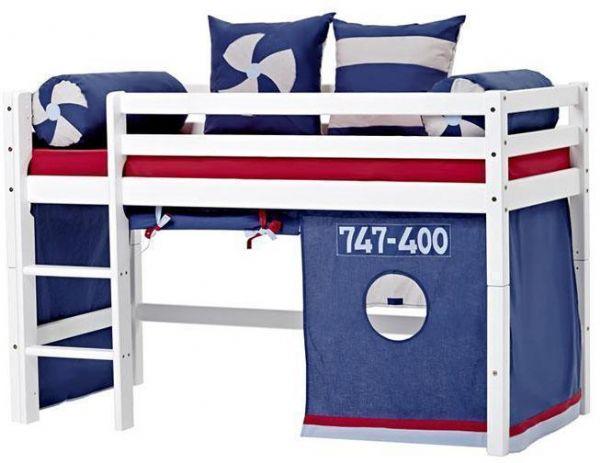 Halvhøj seng 70x160 cm - Hoppekids Aeroplane Seng 102216 - Børneseng - Hoppekids