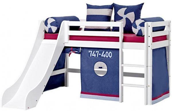 Halvhøj seng 70x160 cm - Hoppekids Aeroplane Seng 102218 - Børneseng - Hoppekids