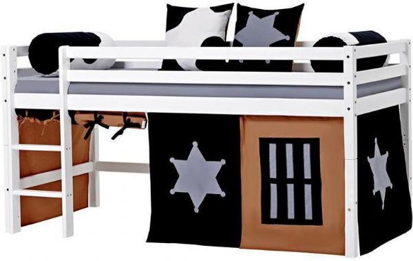 Halvhøj seng 90x200 cm - Hoppekids Cowboy Seng 102321 - Børneseng - Hoppekids