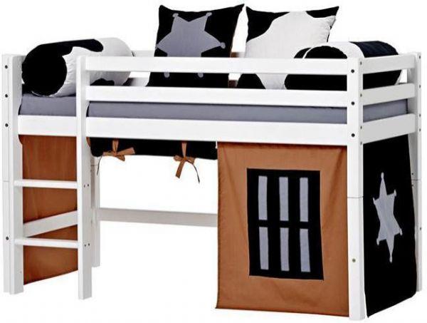 Halvhøj seng 70x160 cm - Hoppekids Cowboy Seng 102322 - Børneseng - Hoppekids