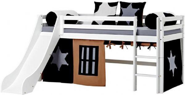 Halvhøj seng 90x200 cm - Hoppekids Cowboy Seng 102323 - Børneseng - Hoppekids