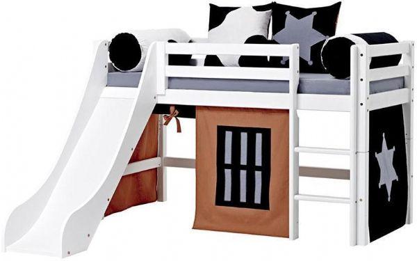 Halvhøj seng 70x160 cm - Hoppekids Cowboy Seng 102324 - Børneseng - Hoppekids