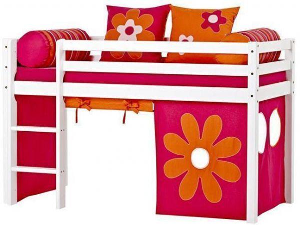 Halvhøj seng 70x190 cm - Hoppekids Flower Power Seng 102408 - Børneseng - Hoppekids